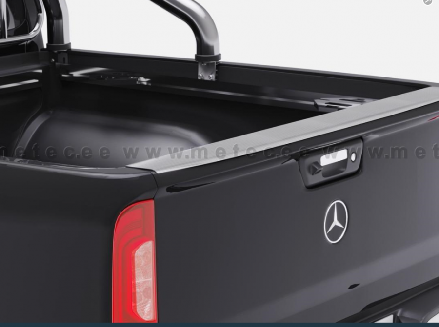Rostfritt skydd för ovandelen på baklem passar Mercedes X-klass och Renault Alaskan 2018-.
