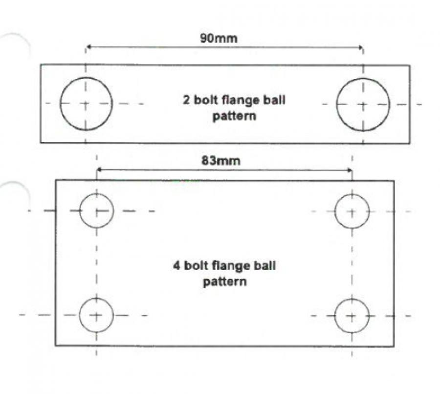 Fotsteg för dragkrok 600 mm (rostfritt).